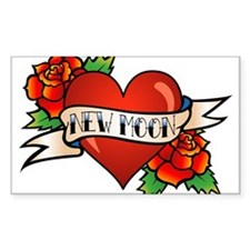 Tattoo New Moon Rectangle Decal