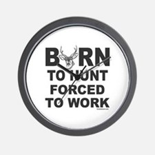 BORN TO HUNT Wall Clock