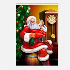 Champagne Santa Postcards (Package of 8)