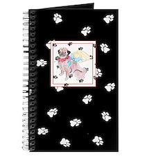 Gulliver's Angels Hug a Pug Black Paw Journal
