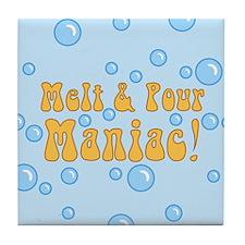 Melt And Pour Maniac Tile Coaster