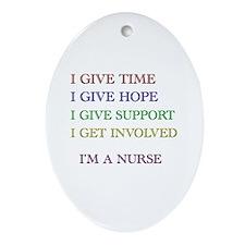 Unique Nurses week Oval Ornament