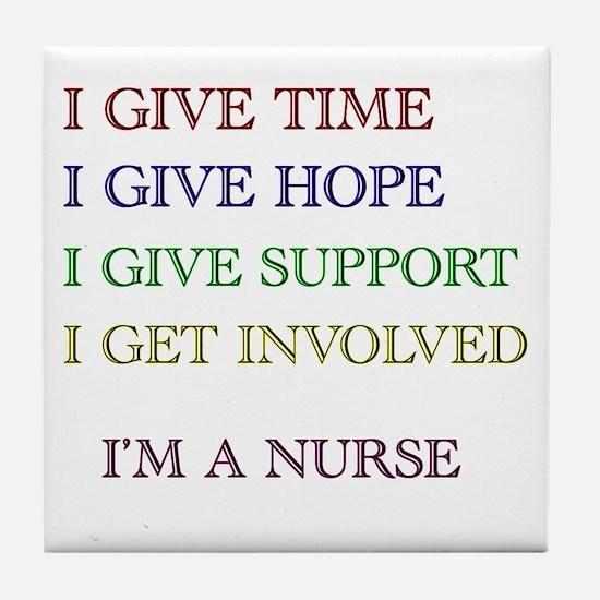 Cute Nurses week Tile Coaster