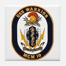 USS Warrior MCM 10 US Navy Ship Tile Coaster