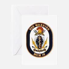 USS Warrior MCM 10 US Navy Ship Greeting Card