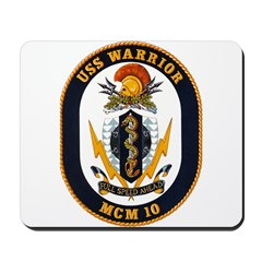 USS Warrior MCM 10 US Navy Ship Mousepad