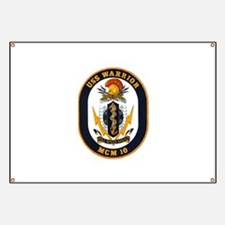 USS Warrior MCM 10 US Navy Ship Banner