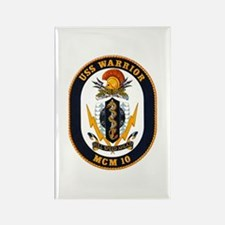 USS Warrior MCM 10 US Navy Ship Rectangle Magnet
