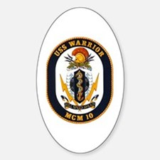 USS Warrior MCM 10 US Navy Ship Oval Decal