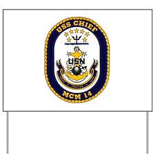 USS Chief MCM 14 US Navy Ship Yard Sign