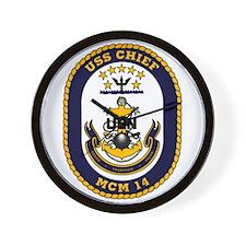 USS Chief MCM 14 US Navy Ship Wall Clock