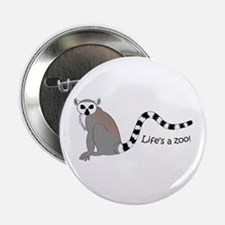 "Ring-tailed Lemur 2.25"" Button"
