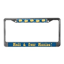 Melt And Pour Maniac License Plate Frame