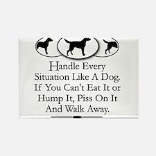 Funny Life dog Rectangle Magnet