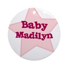 Baby Madilyn Ornament (Round)