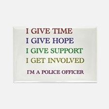 Cute Police officer humor Rectangle Magnet