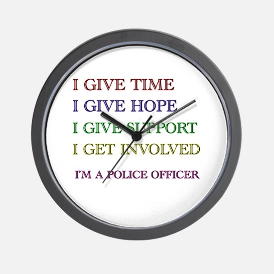 Funny Police officer Wall Clock