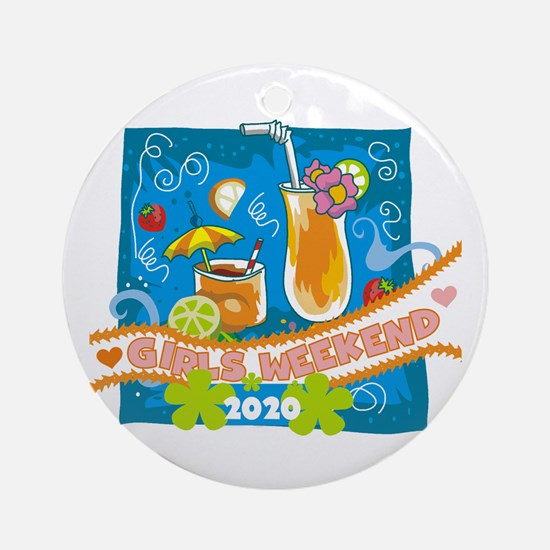 Tropical Girls Weekend 2017 Round Ornament