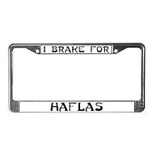 I brake for haflas License Plate Frame