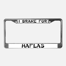 I brake for haflas License Plate Frame