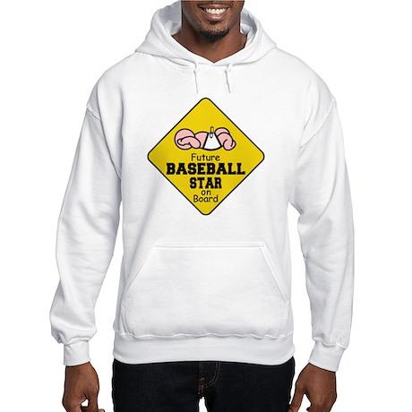 Baseball Star on Board Hooded Sweatshirt
