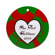 2010 Our Christmas Heart Ornament (Round)