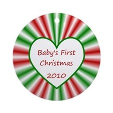2010 Baby's First Christmas Ornament (Round)