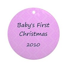 2010 Pink Pattern Ornament (Round)
