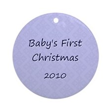 2010 Blue Pattern Ornament (Round)