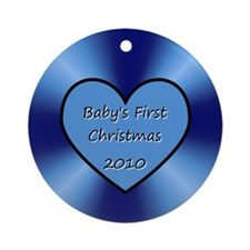 2010 Blue Heart Ornament (Round)