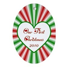 2010 Our First Christmas Oval Ornament