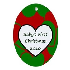 2010 Baby Christmas Heart Oval Ornament
