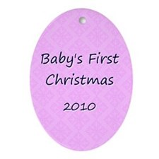2010 Pink Pattern Oval Ornament