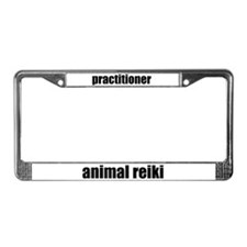 Animal Reiki Practitioner License Plate Frame