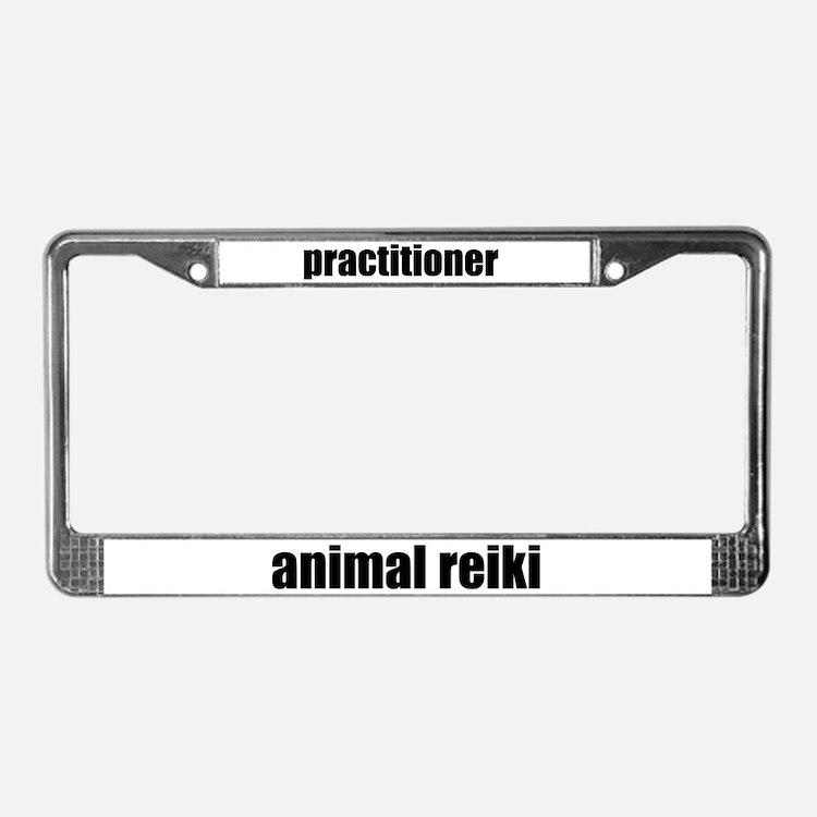 Animal Reiki Practitioner License Plate Frame