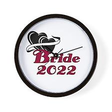 Double Hearts Bride 2014 Wall Clock