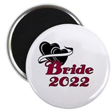 """Double Hearts Bride 2014 2.25"""" Magnet (10 pack)"""