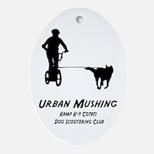 Cute Urban Oval Ornament