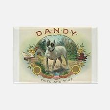 Dandy Dog Vintage Cigar Label Art Rectangle Magnet