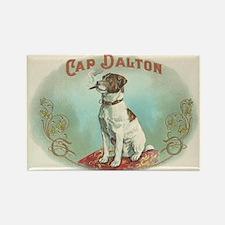 Cap Dalton Smoking Dog Rectangle Magnet