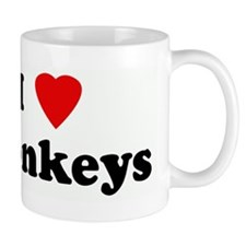 I Love Monkeys Mug