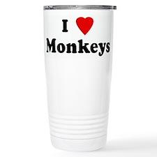 I Love Monkeys Travel Mug