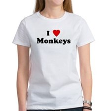 I Love Monkeys Tee
