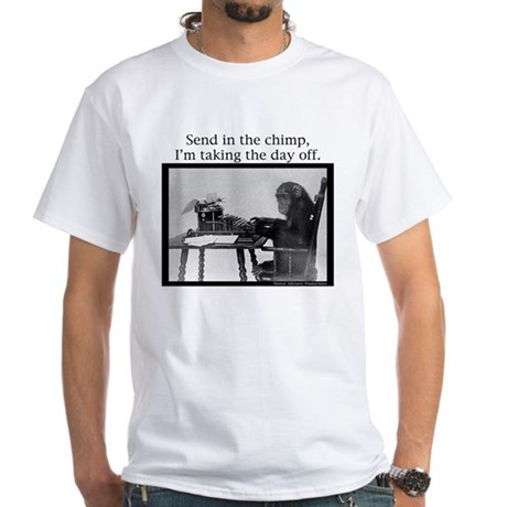 Office Chimp White T-Shirt