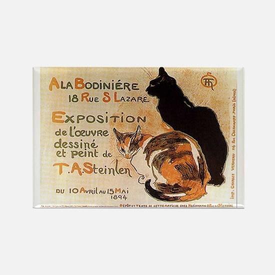 Cats Vintage T.A. Steinlen Art Rectangle Magnet