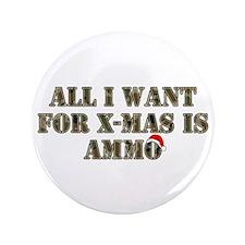 """Camo Ammo XMAS 3.5"""" Button (100 pack)"""