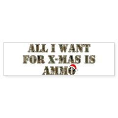 Camo Ammo XMAS Bumper Sticker (10 pk)
