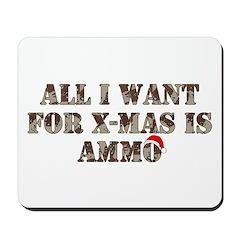 Army Camo Ammo Xmas Mousepad