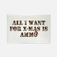 Army Camo Ammo Xmas Rectangle Magnet