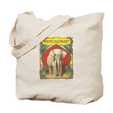 White Elephant Vintage Cigar Label Art Tote Bag